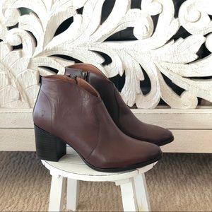 Frye Redwood Leather Heeled Booties